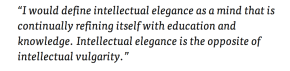 Intellectual Elegance