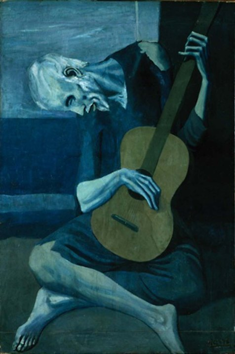 5.PabloPicasso-The-Old-Guitarist-1903